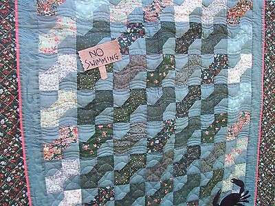 "Lap Quilt/ Wall Hanger~""save Our Lake"" Theme"