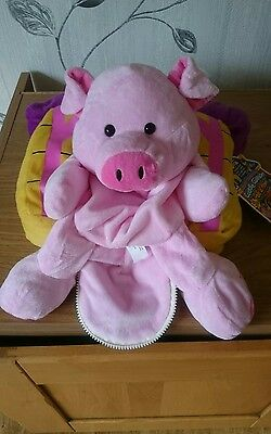 Magical Transforming Cuddle Cushion 2 in 1 Pals At Home Pig & Kennel Plush BN
