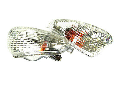 Gilera Runner Front Indicator Lamps - Clear Frosted Lens, Models Before < 2005