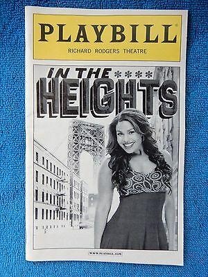 In The Heights - Richard Rodgers Theatre Playbill - September 2010 - Sparks