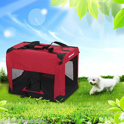 Portable Pet Animal Dog Carrier Crate Kennel Bag Cage Fold Fabric Car Travel
