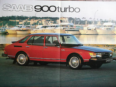SAAB 900 TURBO Poster 1979/80 - with Range details on reverse