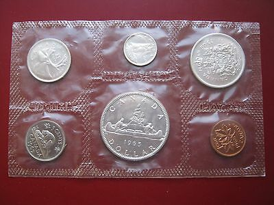 Canada 1965 6 coin proof-like set 1 cent - 1 dollar with 4 silver coins RC Mint