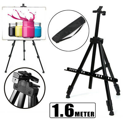 Black Folding Tripod Easel Telescopic Display Art Painting Stand/Carry Case
