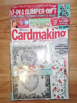 Cardmaking & Papercraft Oct 2016 Magazine Issue 161 With Free Christmas Gifts