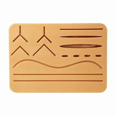"Large 3-Layer Suture Pad with Wounds (7"" x 5"" - Light Skin)"