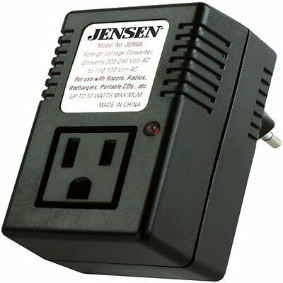 Jensen JEN50 Power and Travel Foreign Voltage Converter, NEW