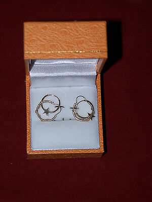 Two Pairs of 14K Yellow Gold Earing, NEW