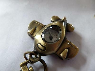 Airplane Keyring Watch  (M5)  NEW BATTERY BEFORE POSTING