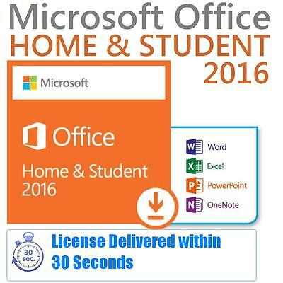 New Microsoft Office Home and Student 2016 For Windows | Media-less / Card-less