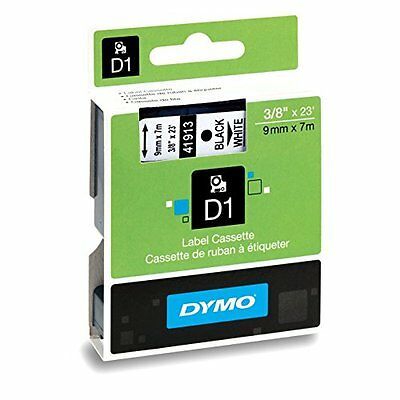 DYMO Standard D1 Self-Adhesive Polyester Tape for Label Makers, 3/8-inch, Bla...