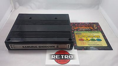 Samurai Shodown III 3 w/ Mini Marquee Neo Geo MVS Arcade Cart Tested & Working