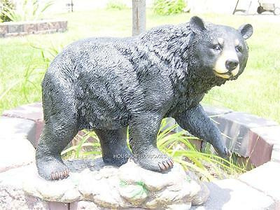Large Black Bear Indoor/outdoor Statue Log Cabin Decor Strollin Bear Log Cabin