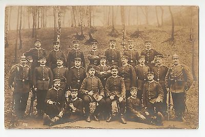 Very Early Photo Postcard Of A Group Of Soldiers, German / Prussian, In Uniform