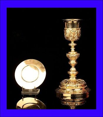 Beautiful Antique Gilt Solid-Silver Chalice. France, Circa 1820
