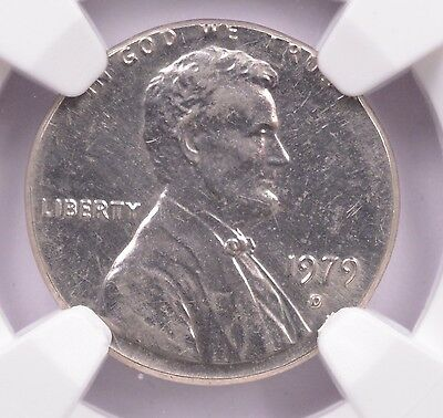 NGC 1c 1979-D Lincoln Cent on Dime Planchet MS-61