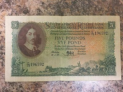 5 Pounds South African Reserve Bank 1957