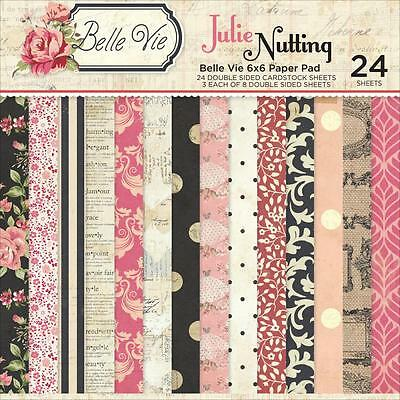 """JULIE NUTTING Paper Pad 6""""x6"""" """"Belle Vie"""" -  Day Planner / Mixed Media  NEW!"""