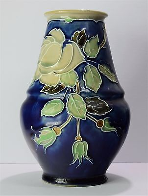 Royal Doulton Lambeth Tube Lined Vase by Bessie Newbery.