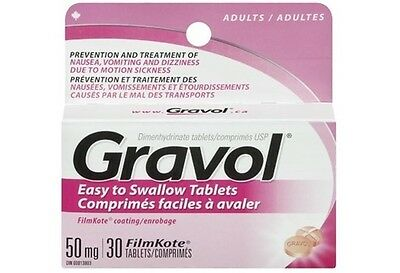Gravol Easy to Swallow Tablets 50 mg 30 tablets