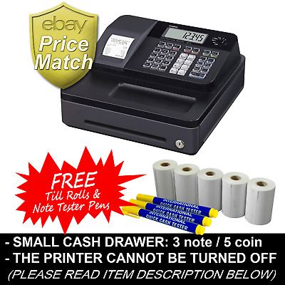 Casio Se-G1 Small Drawer Cash Register + 5 Free Rolls & Note Tester Pens (Rac4)