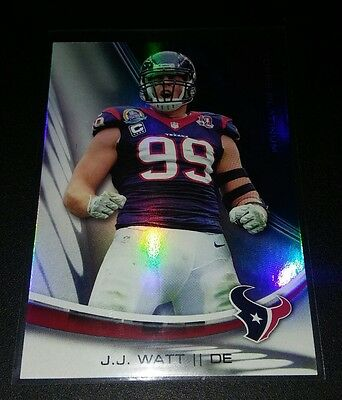 JJ Watt #93 Topps Platinum Refractor 2013 Texans Trading Card NFL Football