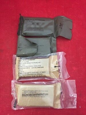 "NEW LOT OF 6 Genuine USGI Field First Aid Dressing Camouflaged 4""x6.25""x7.25"""
