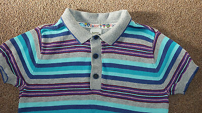 Ted Baker blue violet grey polo t-shirt for boy 18-24 months height 92 cm