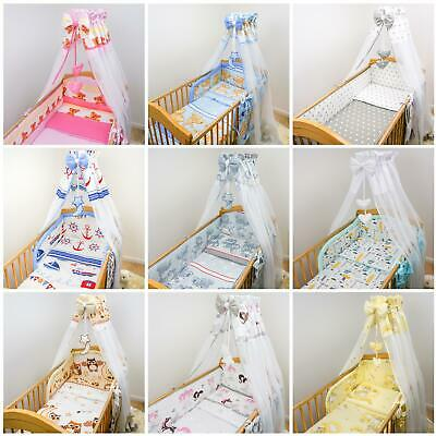 Chiffon Canopy Drape Mosquito Net + Holder Fits Baby Nursery Cot Bed