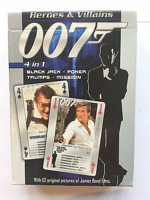 007 James Bond Heroes and Villains Character playing cards NEW SEALED