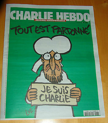Charlie Hebdo 1st print 14.1.2015 Paris FRANCE - language only french