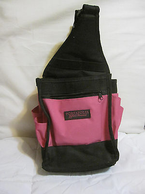 "Large 18"" Gifted Memories Portafolia Craft Scrapbooking Tote  - Pink And Black"