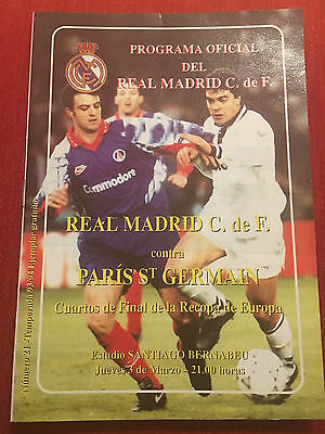 Programme Official Real Madrid Psg Paris St Germain Winners Cup 1993 1994
