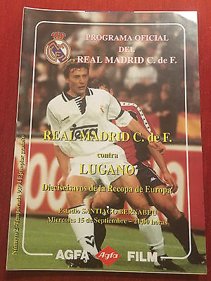 Programme Official Real Madrid Lugano Winners Cup 1993 1994