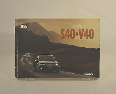 Owners Manual for Volvo S40 & V40. (1998) Official Volvo Publication.