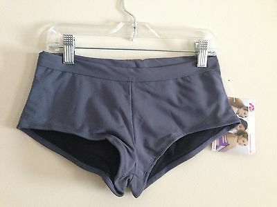 Capezio FRONTLINE Black Cheekies Booty Dance Work Out Shorts Adult Small