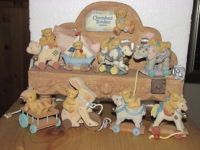 Cherished Teddies Gift Gallery Antique Toys with Displayer