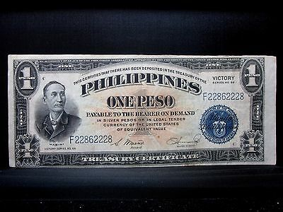 1944 (Nd) 1 Peso Philippines Note ✪ Xf Extra Fine ✪ Victory Note 228 ◢Trusted◣