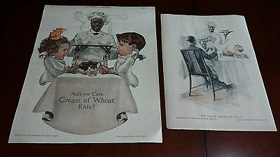 2 Vintage Cream of Wheat Ads From 1920 The RedBook  +1908 The Youths Companion