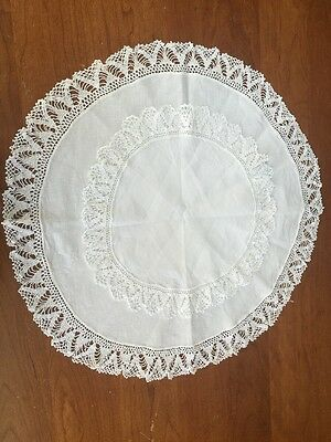 Sweet Set Of Two Doilies Hand Crocheted Edging