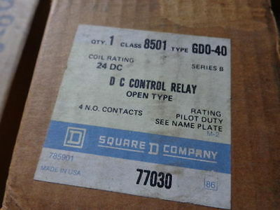 New Square D 8501 Gd0-40 Dc Control Relay  8501Gd0-40