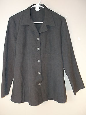 Motherhood Gray Long Sleeve Button Front Career Style Blazer Size Small Tie Back