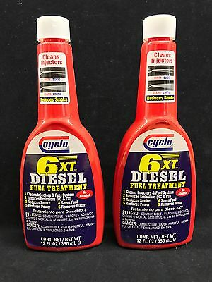 Set of 2: Genuine Cyclo 6XT Diesel Fuel Treatment and Injector Cleaner C-260