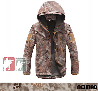 Kryptek NOMAD Waterproof Softshell Tactical Jacket Hunting TAD Sharkskin Hoodie
