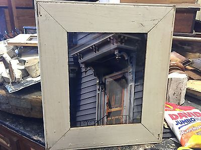 Professional photographers ART - framed photo architecture salvaged wood frame D