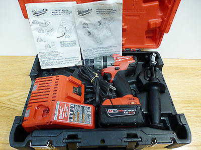 Milwaukee 2603-22 18V Brushless Hammer Drill / Driver Kit with M18 XC 4.0 Used