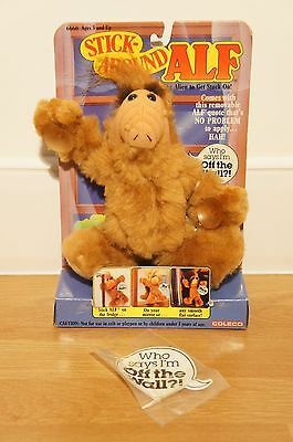 Stick Around Alf Cuddly Toy, Collectible, Boxed, 1988, TV Show, Alien Life Form.