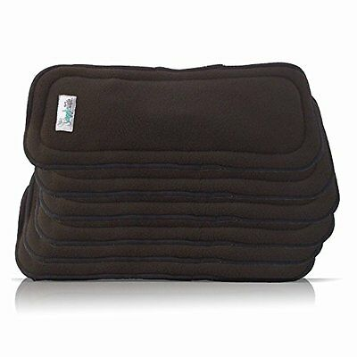 Cloth Diaper Inserts in Charcoal Bamboo (5 Layer) - One Size