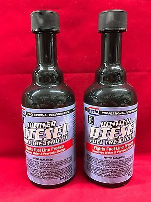 QTY 2: Genuine Cyclo Winter Diesel Fuel Treatment & Water Remover C23 USA MADE