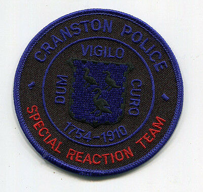 Cranston Rhode Island Police Special Reaction Team Patch